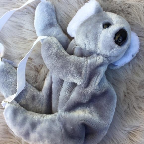 90s Australia Koala Plushie Backpack